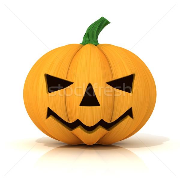 Stock photo: Scary Jack O Lantern. Halloween pumpkin