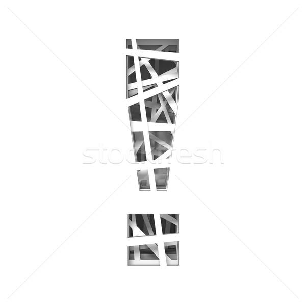 ünlem işareti 3D 3d render örnek Stok fotoğraf © djmilic