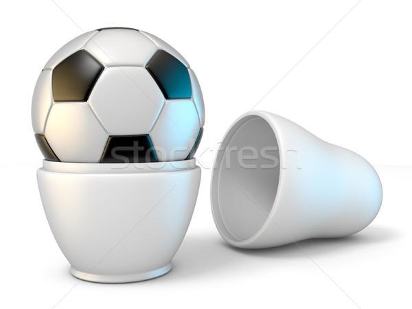 ロシア 人形 サッカー 3D 3dのレンダリング ストックフォト © djmilic