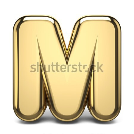 Letter M purple font yellow outlined 3D Stock photo © djmilic