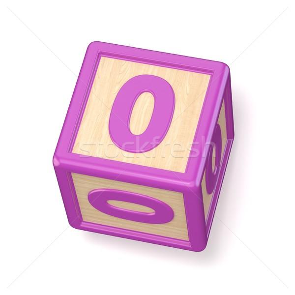 Numero pari a zero legno alfabeto blocchi carattere Foto d'archivio © djmilic
