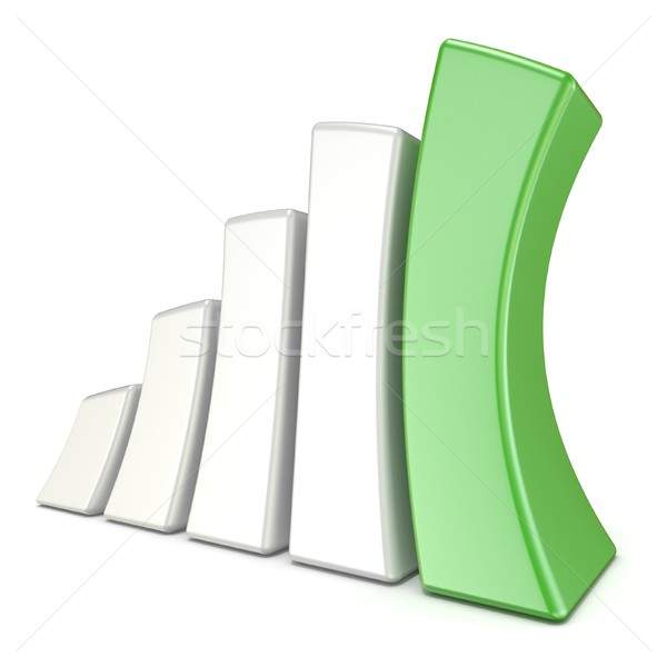Squeezed 3D growth graph bars. Success concept Stock photo © djmilic