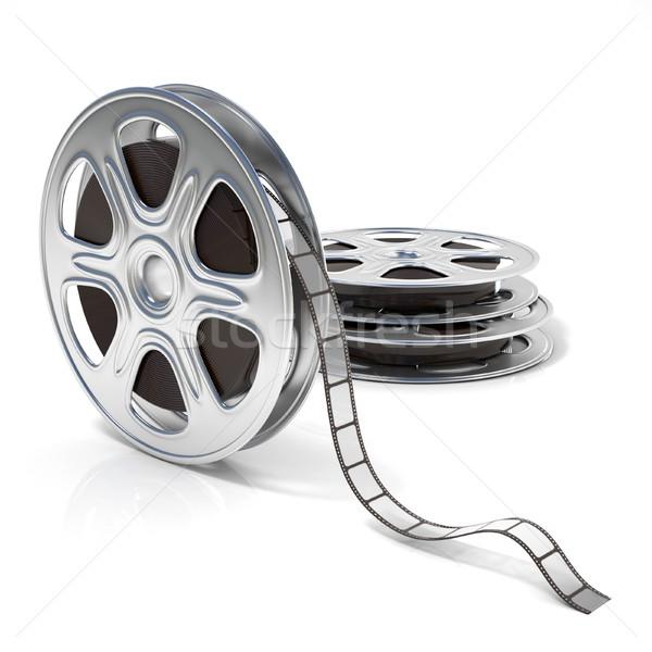Film reels. Video icon. 3D Stock photo © djmilic