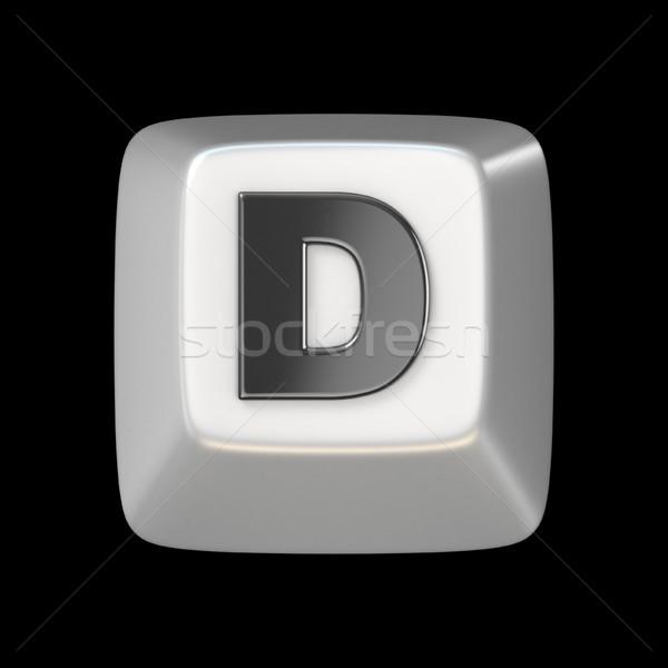 Számítógép billentyűzet kulcs betűtípus d betű 3D 3d render Stock fotó © djmilic