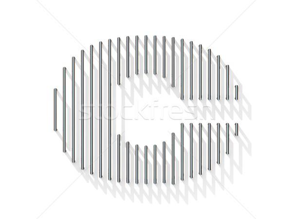 Prata aço arame fonte letra c vertical Foto stock © djmilic