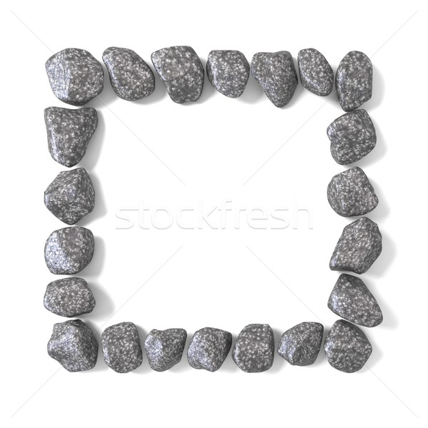 Frame made of rocks 3D Stock photo © djmilic