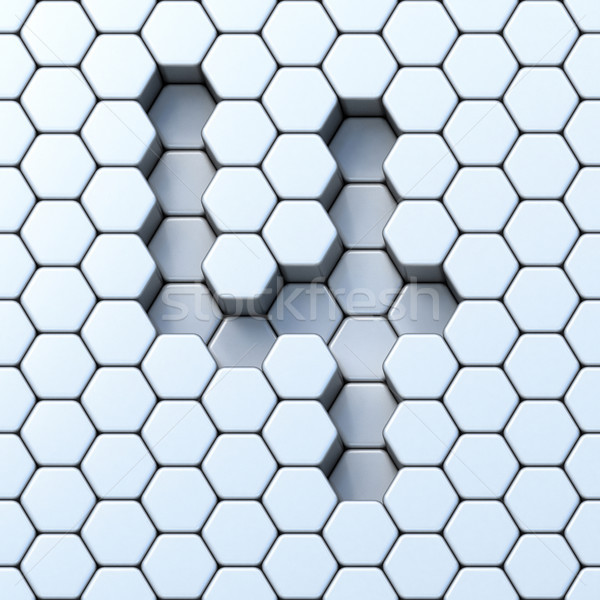 Hexagonal grid number FOUR 4 3D Stock photo © djmilic