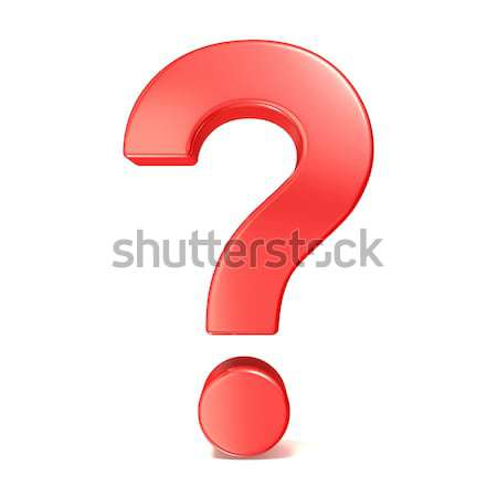 Red question mark. 3D Stock photo © djmilic