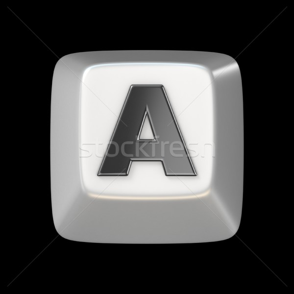 Computer keyboard key FONT. Letter A 3D Stock photo © djmilic
