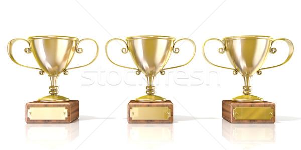 три Кубок 3D 3d визуализации Сток-фото © djmilic