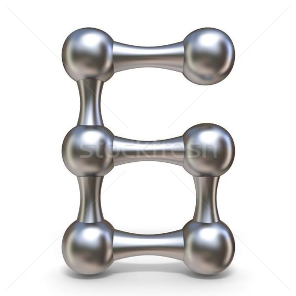 鋼 分子の フォント 番号 6 3D ストックフォト © djmilic