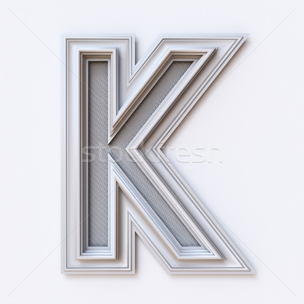 White picture frame font Letter K 3D Stock photo © djmilic