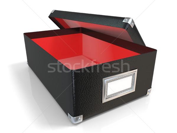Preto couro caixa cromo Foto stock © djmilic