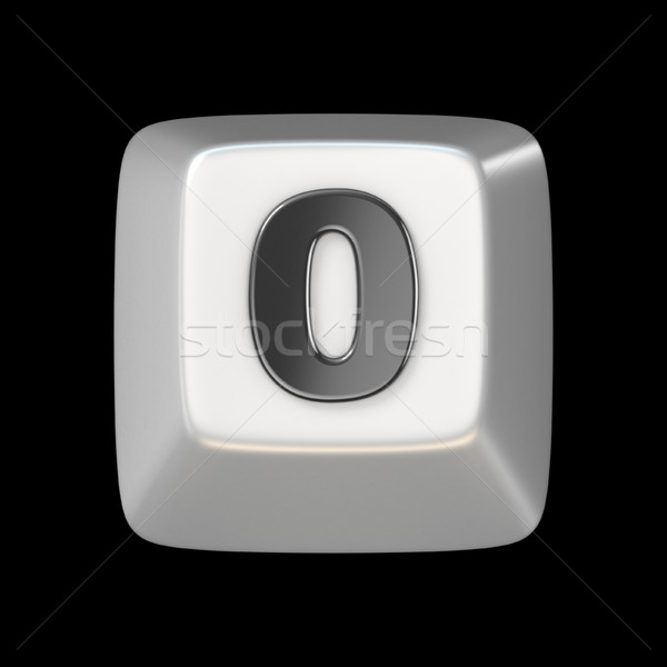 Computer keyboard key number ZERO 0 3D Stock photo © djmilic