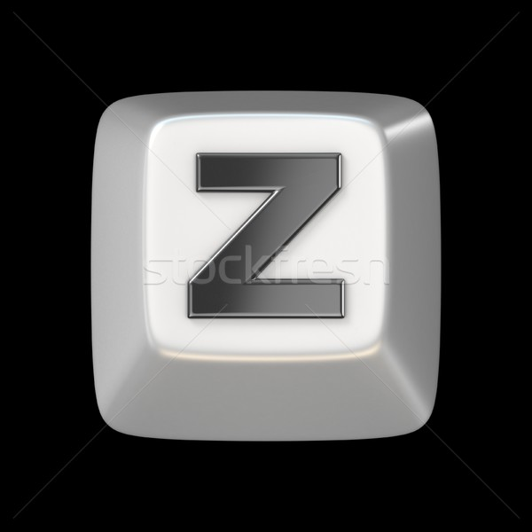 Computer keyboard key FONT. Letter Z 3D Stock photo © djmilic