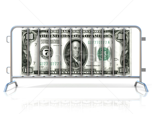 Aço dólar isolado branco ver Foto stock © djmilic
