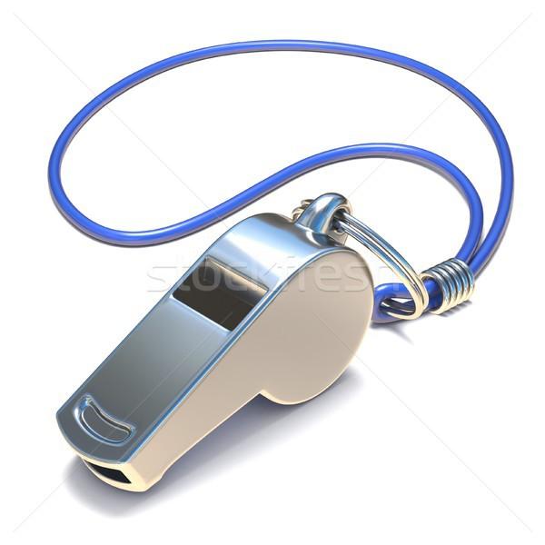 Metal whistle 3D Stock photo © djmilic
