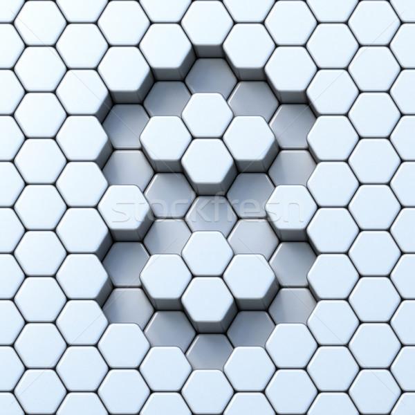 Grid aantal acht 3D 3d render illustratie Stockfoto © djmilic