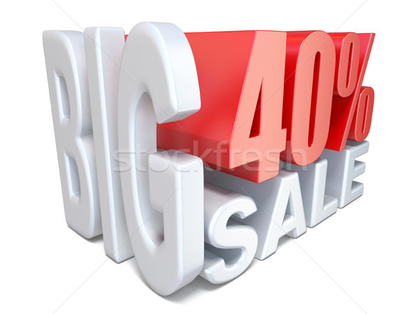 Beyaz kırmızı büyük satış imzalamak yüzde Stok fotoğraf © djmilic