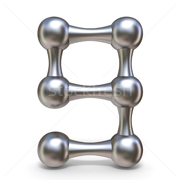 Acero molecular fuente número nueve 3D Foto stock © djmilic