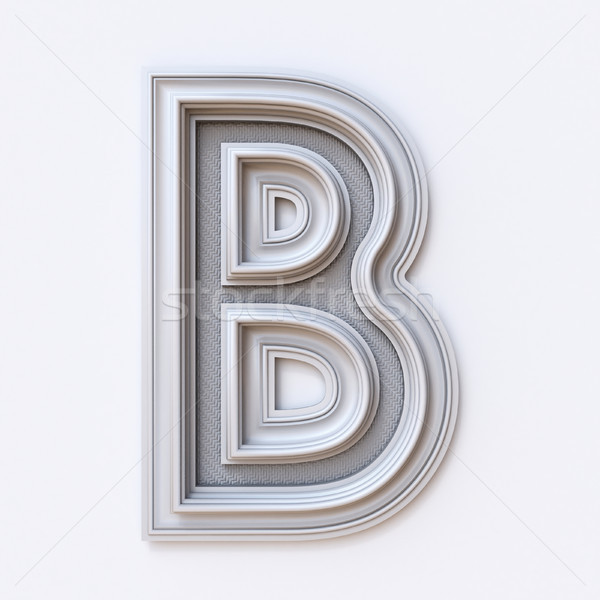 White picture frame font Letter B 3D Stock photo © djmilic