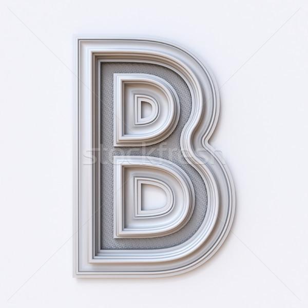 белый фоторамка шрифт письме 3D Сток-фото © djmilic