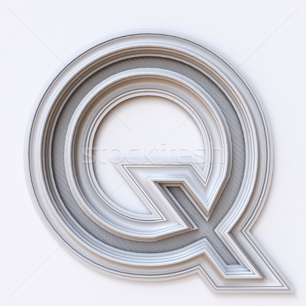 White picture frame font Letter Q 3D Stock photo © djmilic