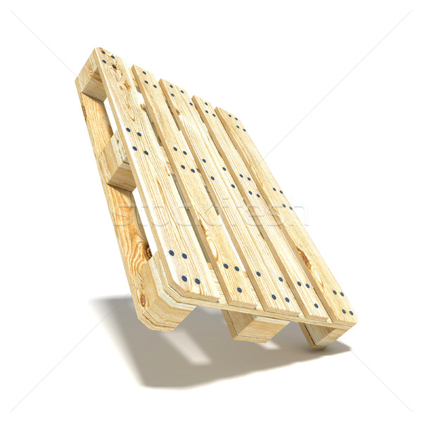 Euro pallet. Angled view. 3D Stock photo © djmilic