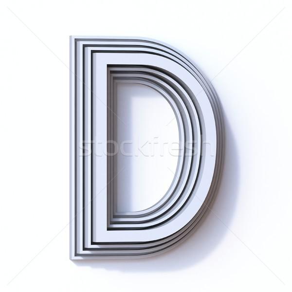 Három lépcső betűtípus d betű 3D 3d render Stock fotó © djmilic