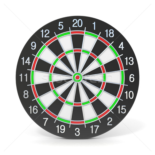 Dartboard. Front view. 3D Stock photo © djmilic