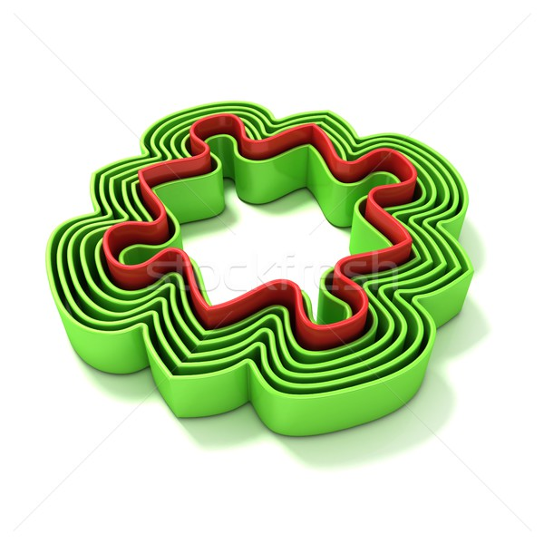 Concentric jigsaw puzzle outlined pieces Stock photo © djmilic