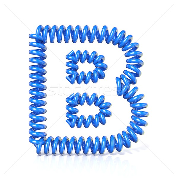 Spring, spiral cable font collection letter - B. 3D Stock photo © djmilic
