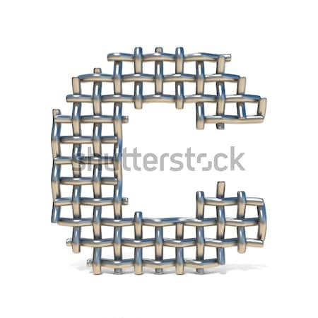 Metal lattice font letter C 3D Stock photo © djmilic