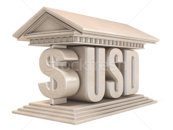 Dollar USD currency sign temple 3D Stock photo © djmilic