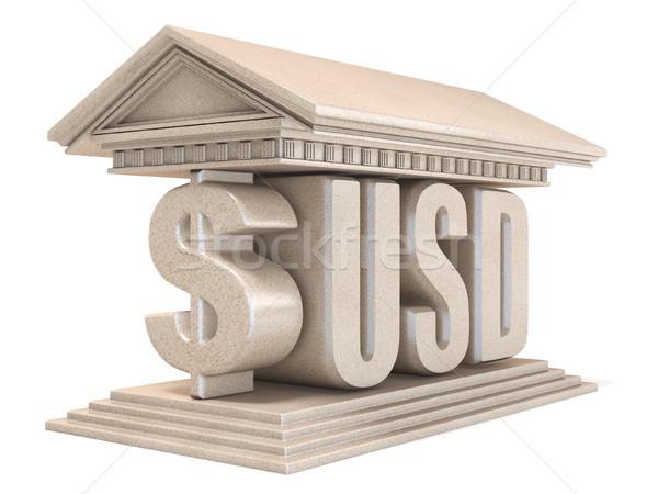 доллара usd валюта знак храма 3D Сток-фото © djmilic
