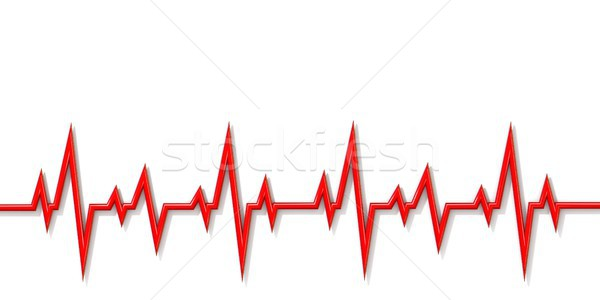 Cardiogram line 3D Stock photo © djmilic
