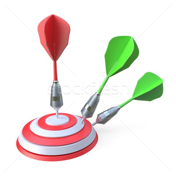 Darts hitting a target 3D Stock photo © djmilic