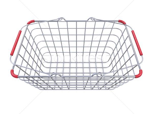 Fém bevásárlókosár oldalnézet 3D 3d render illusztráció Stock fotó © djmilic
