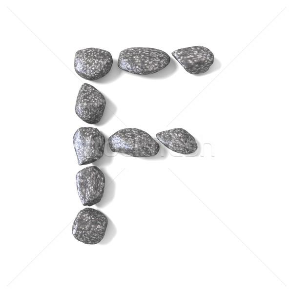 Fuente rocas letra f 3D 3d ilustración Foto stock © djmilic