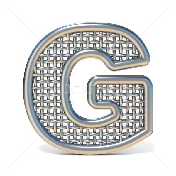 Outlined metal wire mesh font LETTER G 3D Stock photo © djmilic