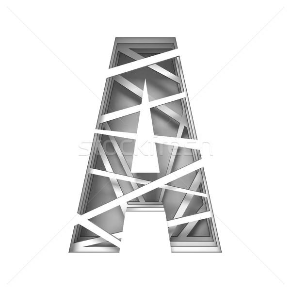 Papír kivágás betűtípus levél 3D 3d render illusztráció Stock fotó © djmilic
