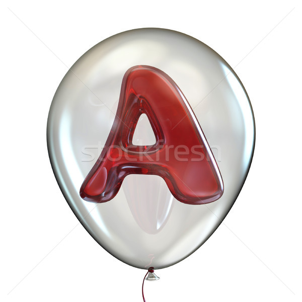 Letter A in transparent balloon 3D Stock photo © djmilic