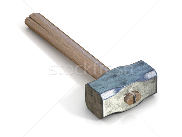 Metal sledge hammer, side view. 3D Stock photo © djmilic