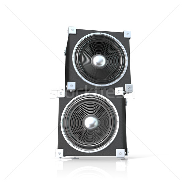 Pair of sound speakers. 3D Stock photo © djmilic