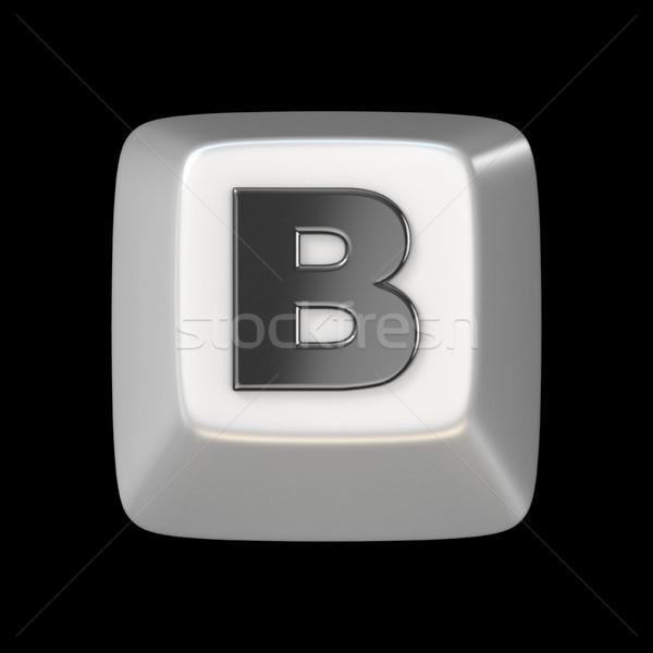 Számítógép billentyűzet kulcs betűtípus levél 3D 3d render Stock fotó © djmilic