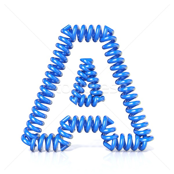 Spring, spiral cable font collection letter - A. 3D Stock photo © djmilic