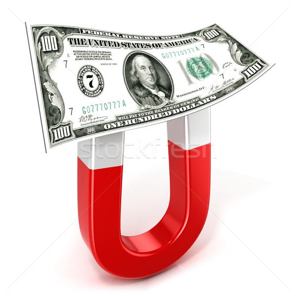 馬蹄 磁石 お金 孤立した 白 ストックフォト © djmilic