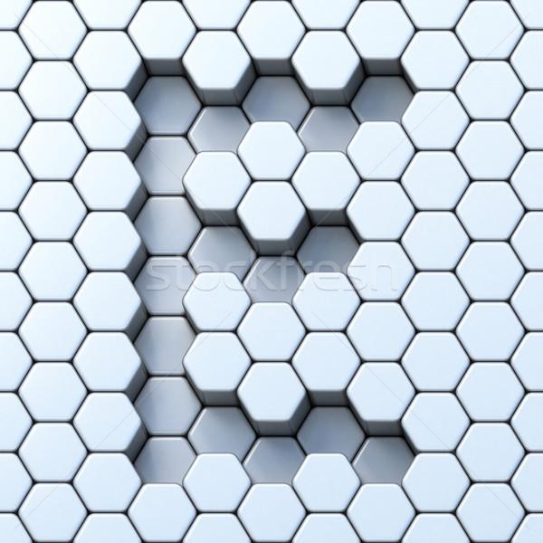 Hexagonal grid letter E 3D Stock photo © djmilic