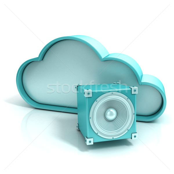 Cloud music 3D computer icon Stock photo © djmilic