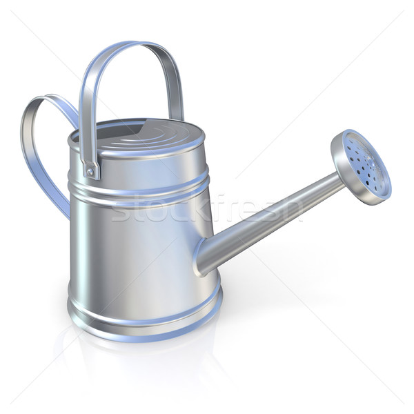 Stock photo: Metal watering can 3D